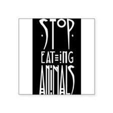 "Cute Cruelty free Square Sticker 3"" x 3"""