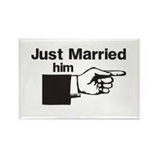 Just Married Him Magnets