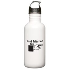 Just Married Him Water Bottle