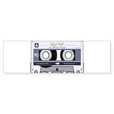 Cassette Tape - Grey Bumper Sticker