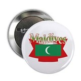 "Maldives flag ribbon 2.25"" Button (10 pack)"