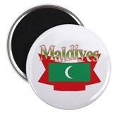 Maldives flag ribbon Magnet