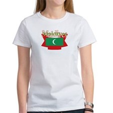 Maldives flag ribbon Tee