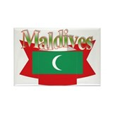 Maldives flag ribbon Rectangle Magnet