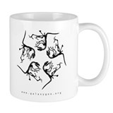 Deinonychus, Black on White Mug
