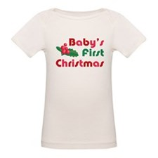 Baby's First Christmas Organic Baby T-Shirt