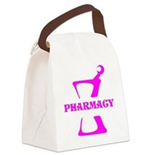 Pink Mortar and Pestle Canvas Lunch Bag