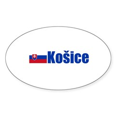 Kosice, Slovakia Oval Sticker