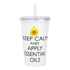 Keep Calm and Apply Es Acrylic Double-wall Tumbler