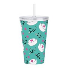 Cute Nurse Gift Acrylic Double-wall Tumbler