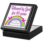 BLESSED AT 90 Keepsake Box