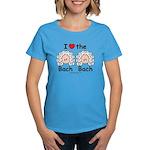 I Love the Bach Double Women's Blue T-Shirt