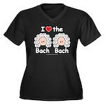 I Love the Bach Double Women's Plus Size V Black T
