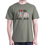 I Love the Bach Double Military Green T-Shirt