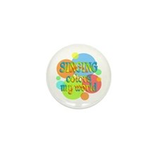 Singing Colors My World Mini Button (10 pack)