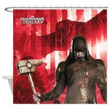 Red Ronan Shower Curtain