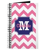 Pink chevron Journals & Spiral Notebooks