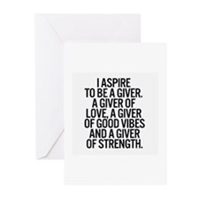 I aspire .. Greeting Cards