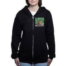Cute Chipmunk Women's Zip Hoodie