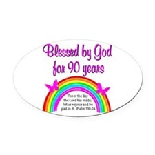 PRECIOUS 90TH Oval Car Magnet