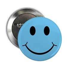 "Blue Smiley Face 2.25"" Button (10 pack)"