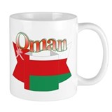 Oman flag ribbon Mug