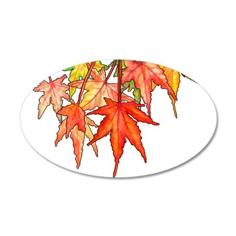 Autumn Leaves 20x12 Oval Wall Decal