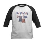 My Mommy Does Yoga Kids Baseball Jersey