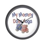 My Mommy Does Yoga Wall Clock