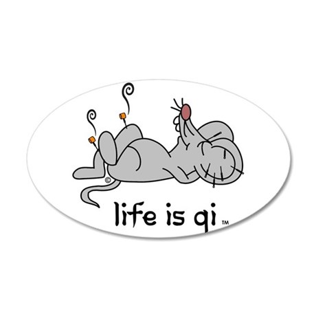 Life is Qi Mouse Acupuncture Moxa Wall Decal