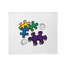 Jigsaw Swirls Throw Blanket