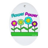 Flower Power Oval Ornament
