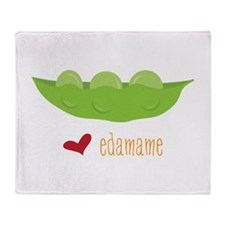Love Edamame Throw Blanket