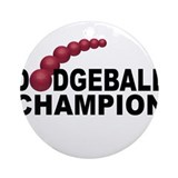 Dodgeball Champion Ornament (Round)