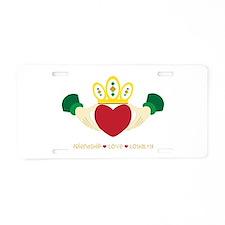 Friendship*Love*Loyalty Aluminum License Plate