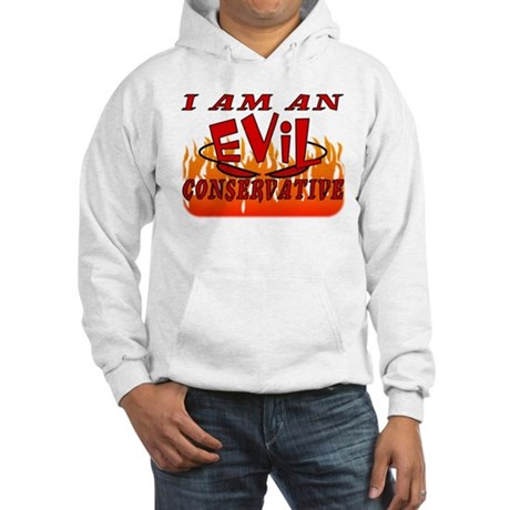 Evil Conservative (Stop Psychobabble) Hooded Sweat