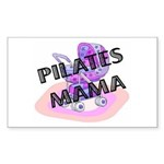 Pilates Mama Rectangle Sticker