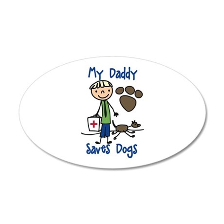 Daddy Saves Dogs Wall Decal