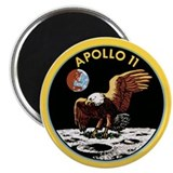Apollo 11 Astronaut and Flag on Moon Magnet