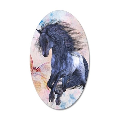 Blue Unicorn 3 Wall Decal