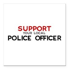 "Cute Police officers jobs Square Car Magnet 3"" x 3"""