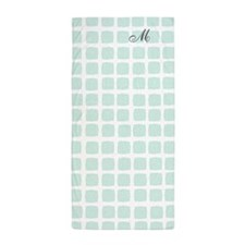 Monogrammed Mint Green Sea Pool Beach Towel