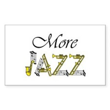 Jazz man sax saxophone Rectangle Decal
