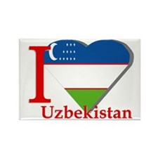 I love Uzbekistan Rectangle Magnet