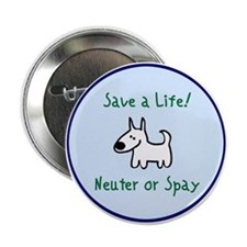 "Funny Spay and neuter 2.25"" Button (10 pack)"
