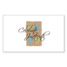 Celebrate Juneteenth - Black Sticker (Rectangular
