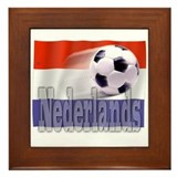 Soccer Flag Nederlands Framed Tile
