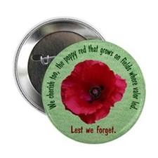 """The Poppy Red 2.25"""" Button (10 pack)"""