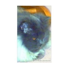 Long-Haired Blue Persian Cat Sticker (Rect.)