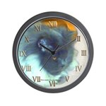 Long-Haired Blue Persian Cat Wall Clock